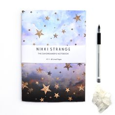 Abstract star printed A5 notebook for jotting down all your dreams and ideas, a stunning and original gift idea for her.