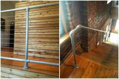 Cable Railing Pipe Railing Affordable, modern design option for deck railing Pipe Railing, Staircase Railings, Deck Railings, Handrail Ideas, Interior Railings, Interior Windows, Interior Lighting, Luxury Interior, Interior Design Jobs