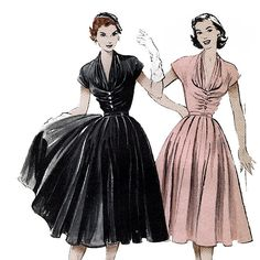 Butterick 6300 Vintage 50s Misses' Dress Sewing by retrowithlana