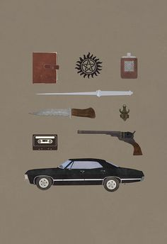 Supernatural TV poster alternate - (8x10, 11x17, or 13x19) on Etsy, $13.00