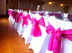 Taffeta bows hot pink, love them!