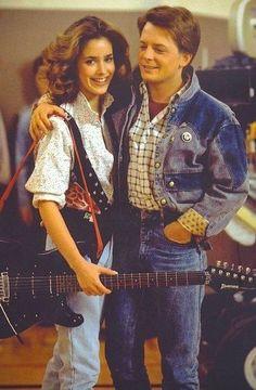 Jennifer & Marty. £BackToTheFuture