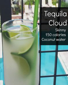 Forget tequila sunrise, try this delicious healthier skinny twist. This coconut water drink with tequila is really easy to make and extremely delicious!