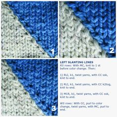 A few weeks ago, we discussed intarsia. One thing you may have noticed when knitting diagonal lines in color work is the characteristic jagged or stair-step edge you get at the color changes. That stair-step might be acceptable in smaller, intricate designs but when you have large sweeping diagonals or curved lines, it blurs the …