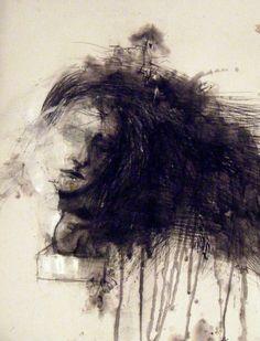 "Saatchi Online Artist: Fotini Hamidieli; Charcoal, 2012, Drawing ""outside the box"""
