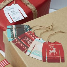 Etiquette pullover de noel - Christmas Jumper Tags -