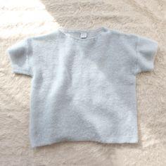 Base Range Loose Tee Sweater Blue Grey