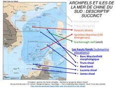 #Carte. Archipels et îles de la mer de Chine du Sud. Conception général (2s) D. Schaeffer, 2014. Cliquer sur l'image pour l'agrandir.