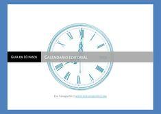 ebook con los pasos para hacer un calendario editorial, agosto 2016. Chart, Libros