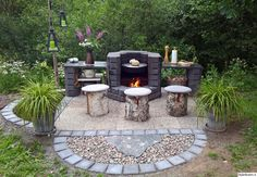 hay pole, summer kitchen, Arabic, houses the home of dreams, stone Garden Yard Ideas, Backyard Garden Design, Backyard Landscaping, Outdoor Kitchen Plans, Diy Grill, Outdoor Projects, Outdoor Decor, Outdoor Buildings, Fireplace Garden
