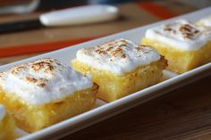 Food Wishes Video Recipes: Lemon Meringue Bars Lemon Desserts, Lemon Recipes, Just Desserts, Sweet Recipes, Delicious Desserts, Yummy Food, Simple Recipes, Gelee Recipe, Crepes