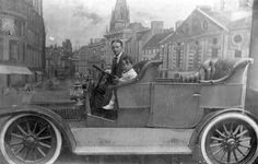 https://flic.kr/p/s5faxX | Photographic Studio | In the Edwardian era, the motor car was the greatest of novelties of which only the wealthy could afford.  Having your photograph taken sitting in a car would have been something special.