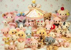 Needle felted animals felting kawaii cute - milleさんの羊毛フェルト作品