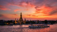Chao Phraya River, in the heart of the city.