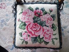 needlepoint pillow/chair pad 2004