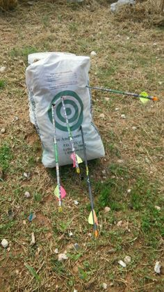 DIY Archery Target...old clothes in a feed bag!