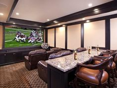 "always said I would let my man have the basement for his ""man cave"""