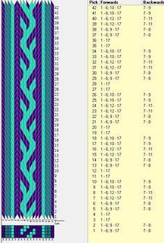17 tarjetas, 3 colores, repite cada 8 movimientos // sed_248b diseñado en GTT༺❁