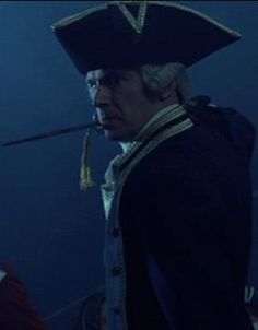 Commodore James Norrington in strike position against Barbossa's cursed crew in The Curse of the Black Pearl