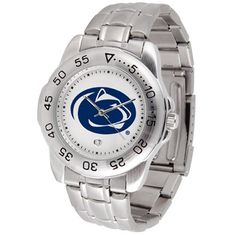 "Penn State Nittany Lions NCAA ""Sport"" Mens Watch (Metal Band) - http://www.specialdaysgift.com/penn-state-nittany-lions-ncaa-sport-mens-watch-metal-band/"