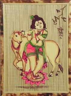 Cowherd Krishna - Wall Hanging (Bamboo)