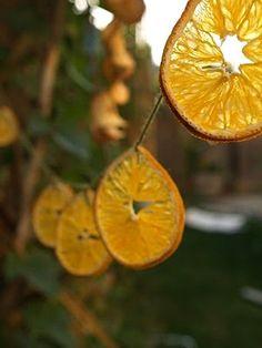 Orangen-Girlande
