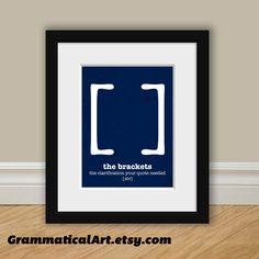 Grammar+Punctuation+English+Bracket+Definition+by+GrammaticalArt,+$18.00