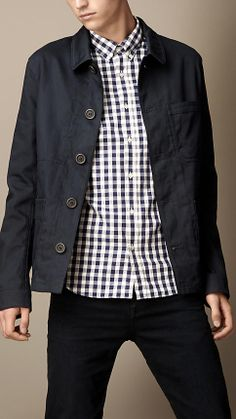 Cotton Sateen Shirt Jacket | Burberry