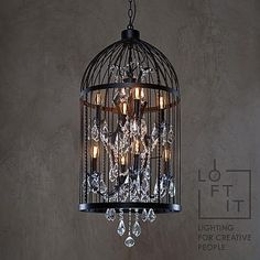 LOFT IT люстра клетка LOFT1891/8 Производство и продажа светильников и Ретро ламп в стиле Лофт. 8-901-755-38-60