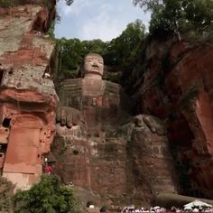 """14.5k Likes, 87 Comments - designboom magazine (@designboom) on Instagram: """"at 71 meters high, the #leshangiantbuddha in china is by far the biggest pre-modern #statue in the…"""""""
