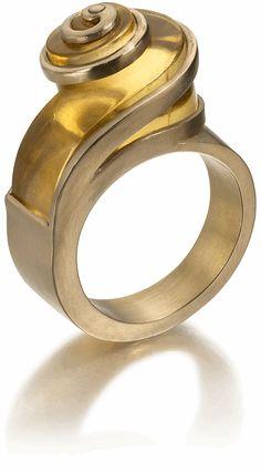 Charlotte De Syllas: Taplin Ring, 2012  22ct gold, heliodor