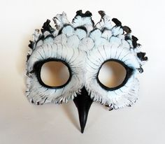Snowy Owl Leather Mask by AnnieLibertini on Etsy, $95.00