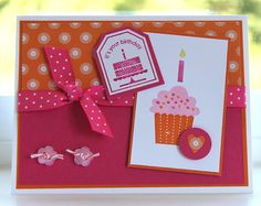 Cupcake Birthday by dpetersen - Cards and Paper Crafts at Splitcoaststampers