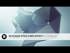 Cinema 4D: 3D Plexus Style Effect with Mograph Tutorial - YouTube