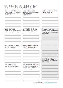 Your Readership (Writing Worksheet Wednesday)