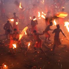 Agni Keli is annual festival that takes place in Mangalore, india and features participants hurling fireballs at each other. Mangalore, Places To Travel, Places To See, Travel Destinations, Beautiful World, Beautiful Places, India Travel, Just In Case, Travel Inspiration