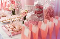 All Pink Baby Shower Ideas | Pink and White Baby Shower by Life is Sweet Candy Buffets