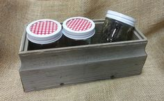 Small boxes make great gifts with canned goods, great for patios and picnic tables. Uses are endless!
