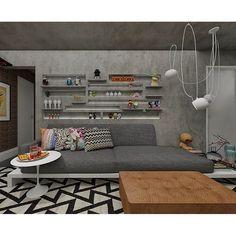 @arqandersonleite   #toyart e #concrete para #apartamento em #sp #missonihome #bykamy #aim #andersonleitearquitetura