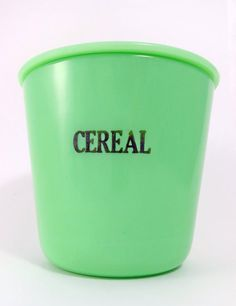Jadeite Cereal Canister Jadite Cereal Lidded Glass by MinniesFlea, $129.00