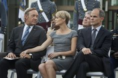 "Love this grey dress from ""House of Cards"" (and most everything she wore)"