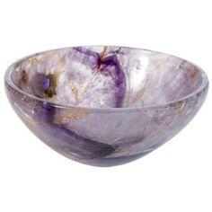 Amethyst bowl sink