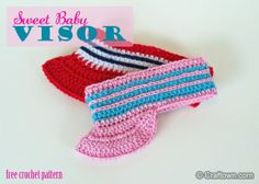 Baby Visor - free crochet pattern