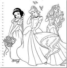 desenhos colorir princesas disney - 003