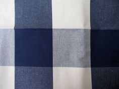 "Oversized BUFFALO CHECK Woven Cotton in Navy/Cream, 3.75"" squares, 54"" wide, $17.50/yd"