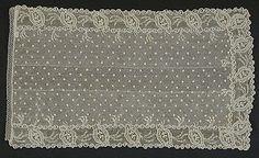 Man's Cravat, circa 1795  Lace; Linen