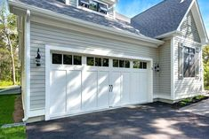 Recommended Size of Lowes Garage Doors White Garage Doors, Double Garage Door, Craftsman Garage Door, Carriage House Garage Doors, Garage Door Windows, Diy Garage Door, Modern Garage Doors, Best Garage Doors, Residential Garage Doors