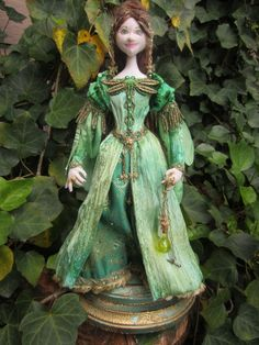 OOAK Art Doll  Absinthe a green fairy by TheQueensPavilion on Etsy, $300.00