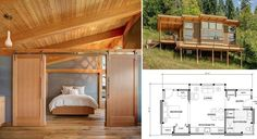 550 Sq. Ft. Prefab Timber Cabin. http://www.goodshomedesign.com/550-sq-ft-prefab-timber-cabin/