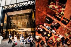 Vanity Fair gave a bad restaurant review to the Trump Grille in Trump Tower, & Trump went on a Twitter attack against Vanity Fair. (Both images from Alamy.)